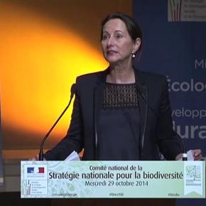 Ségolène Royal présente le dispositif de l'Agence française pour labiodiversité